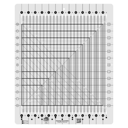 Quilt Ruler Grid - Creative Grids Stripology Squared Quilt Ruler (CGRGE2)
