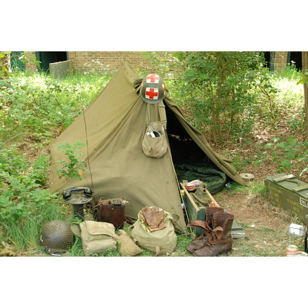 - Canvas Print Military Second World War Tent War Soldier Army Stretched Canvas 10 x 14