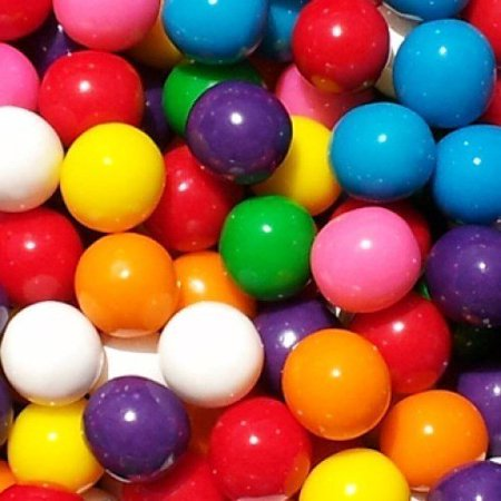 Gumball Tubes (GUMBALLS ASSORTED 25mm or 1 inch (57 count),)