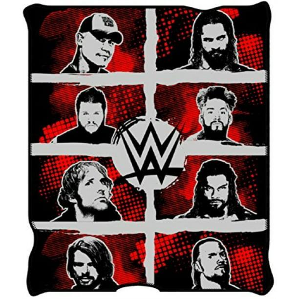WWE Superstar Grid Ink Fleece Throw