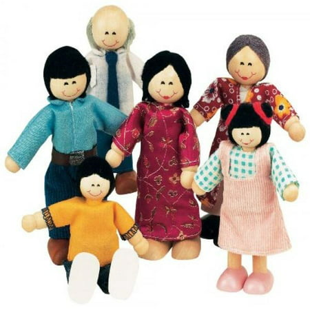 - Small World Toys Ryan's Room Wood Doll House -Family Affair Asian-American Doll Family