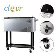 New Clevr Outdoor 80quart Party Portable Rolling Cooler Ice Chest