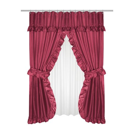 Goodgram Lauren Complete 5 Piece Attached Shower Curtain Valance