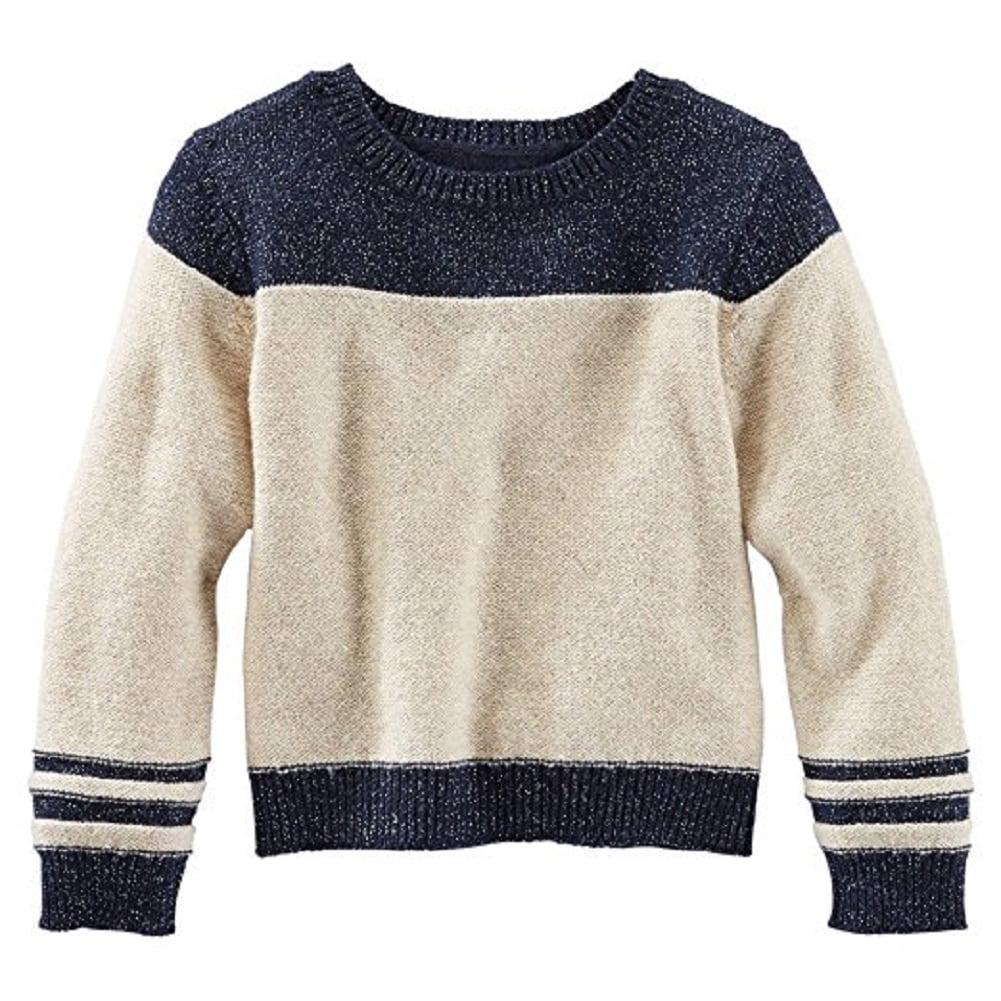 OshKosh B'gosh Little Girls' Sparkle Varsity Sweater, 5 Kids