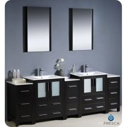 Fresca Bari Torino 84'' Double Bathroom Vanity Set with Mirror