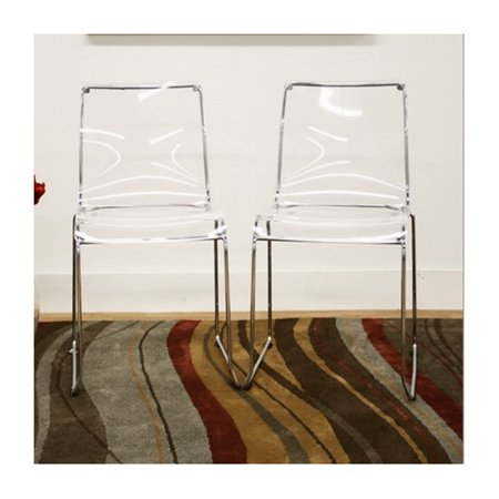 Wholesale Interiors Baxton Studio Lino Dining Chair in Transparent Clear (Set of -
