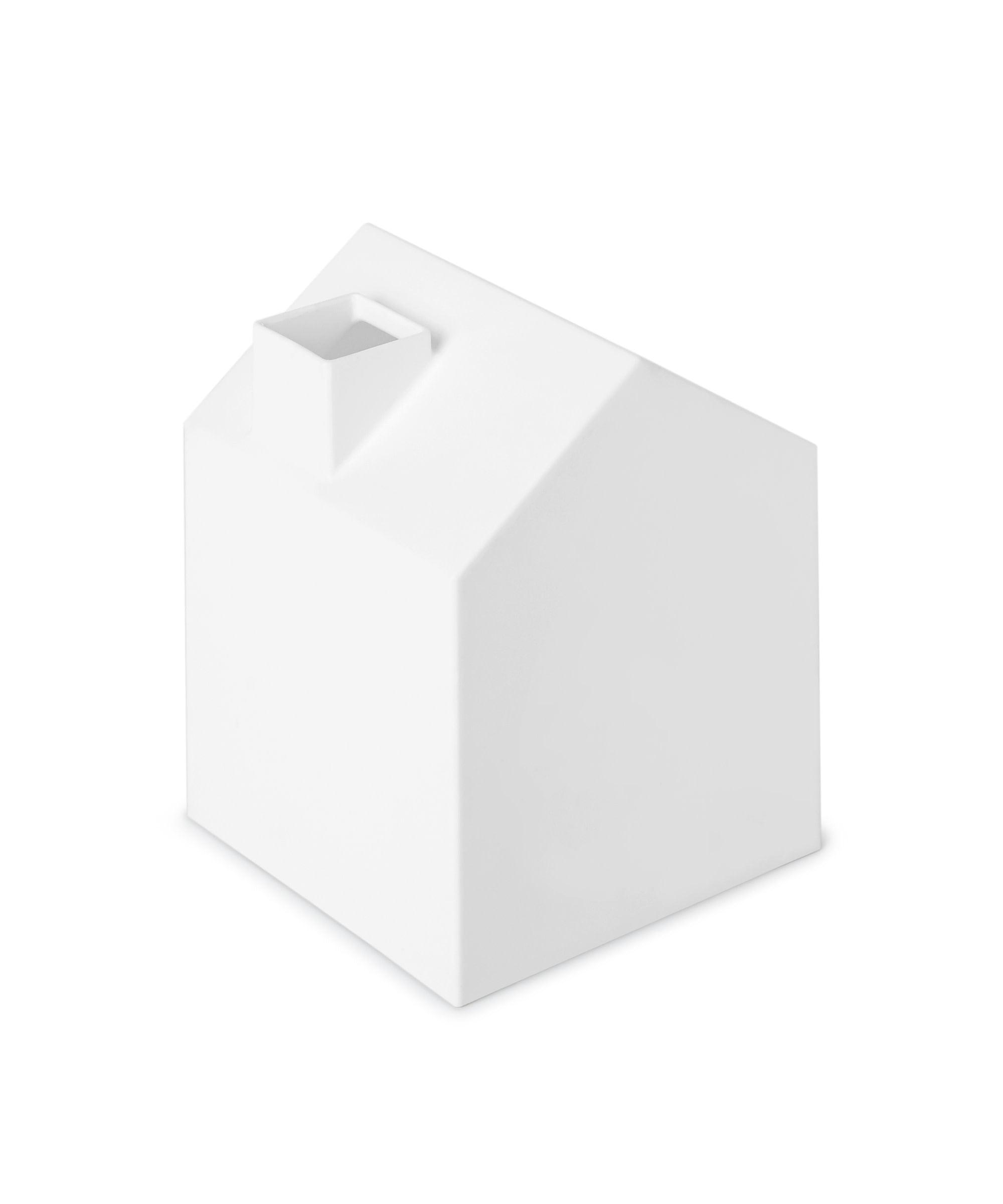 White Umbra Casa Tissue Box Cover Adorable House Shaped Square Tissue Box Holder