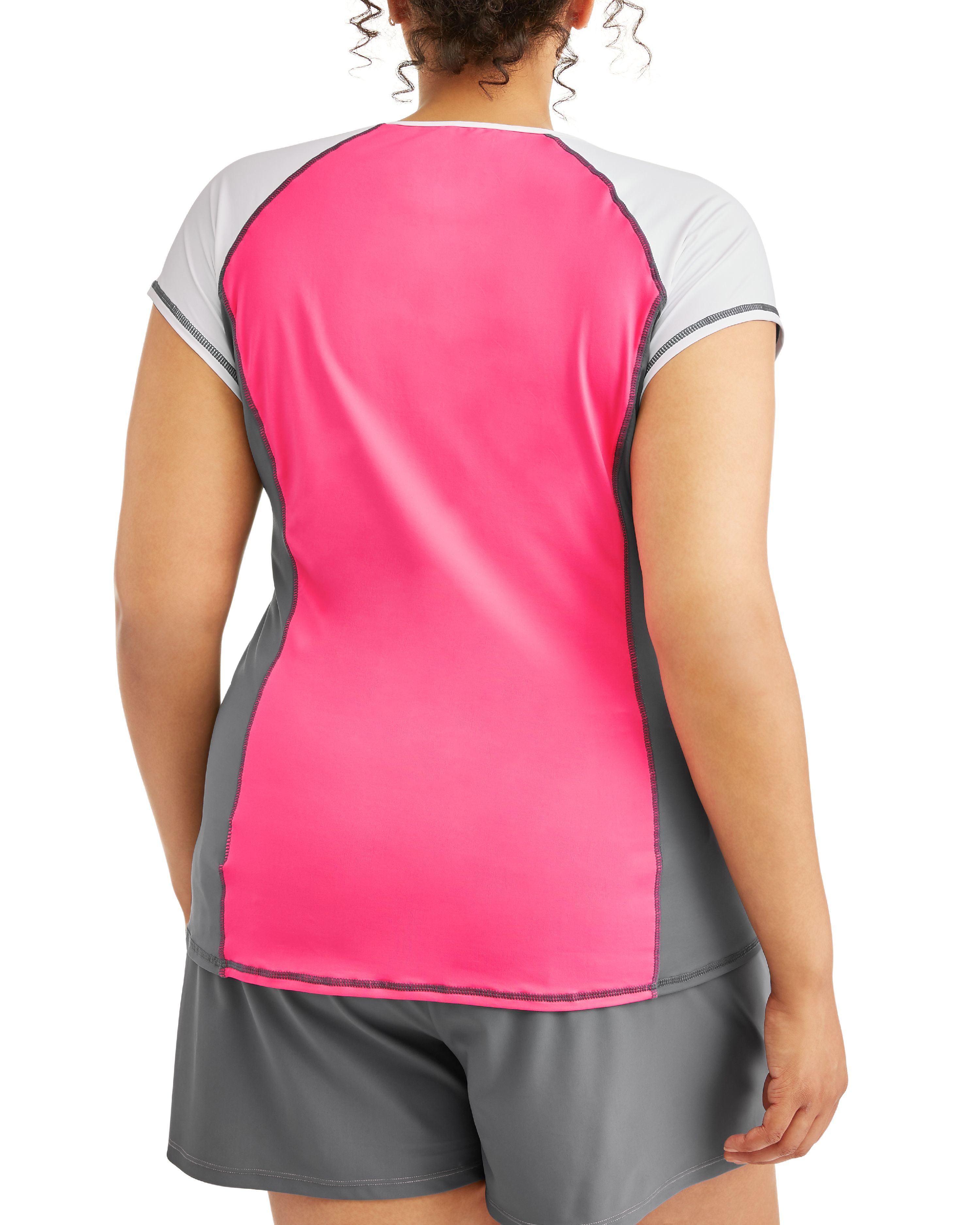 8277e0e038 Free Tech - Women s Plus-Size Sporty Colorblock Rashguard Swim Cover-Up -  Walmart.com