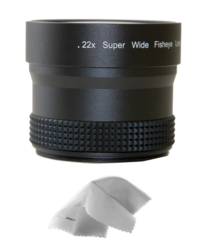 0.5X Wide Angle Lens with Macro 82mm Circular Polarizing Filter Rings 52, 55, 58, 62 /& 67 Nw Direct Micro Fiber Cleaning Cloth + Nikon D5600 HD High Definition