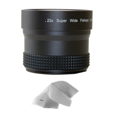 Nikon COOLPIX B500 0.21x-0.22x High Grade Fish-Eye Lens (Includes Lens / Filter Adapter) + Nw Direct Micro Fiber Cleaning
