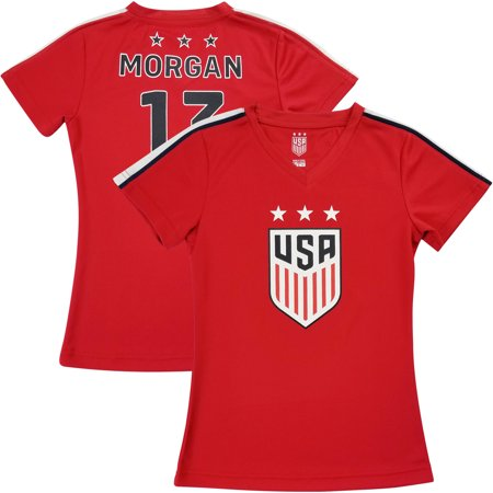 quality design 253f4 c0b81 Alex Morgan USWNT Girls Youth 2019 Team Jersey - Red