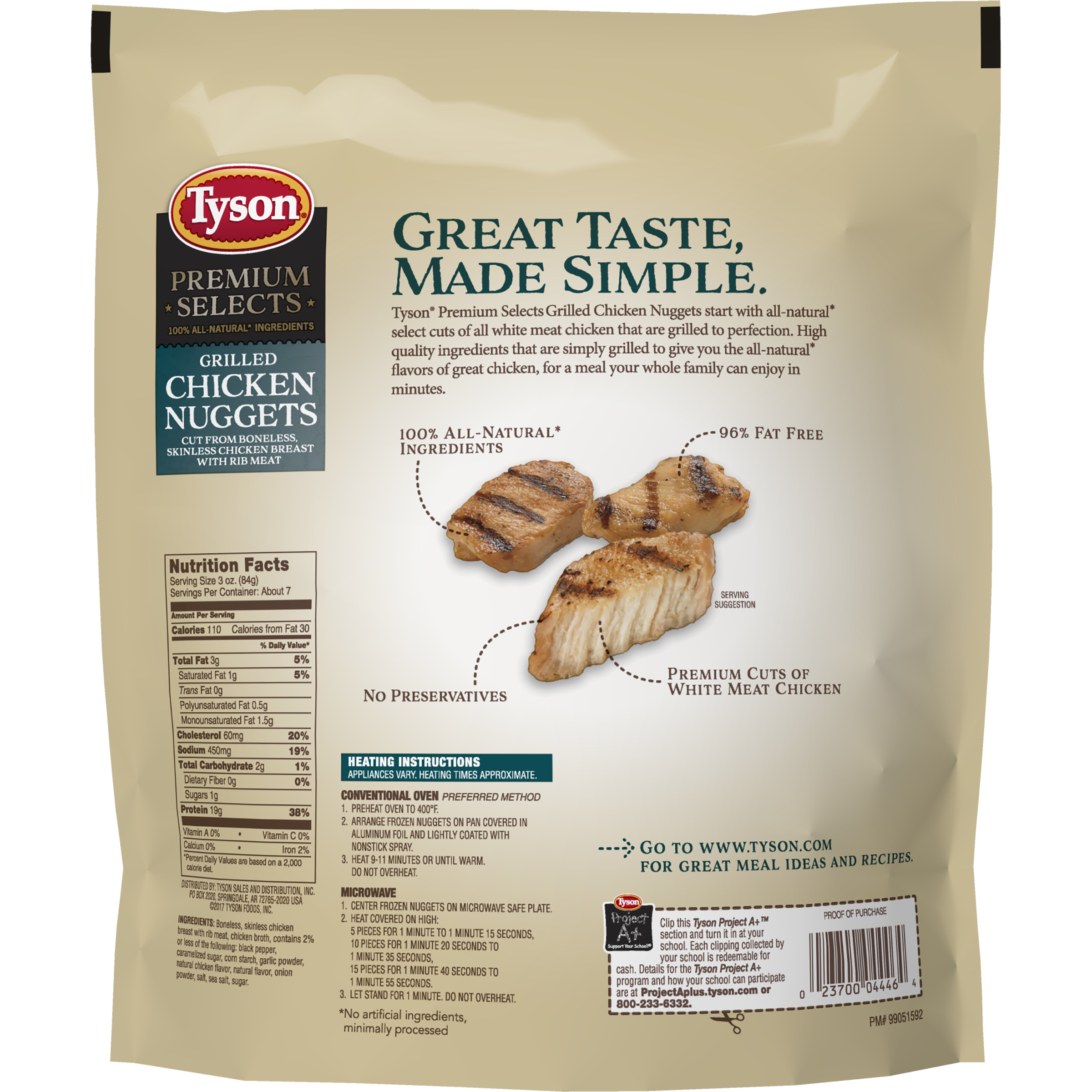 Tyson Premium Select Fully Cooked Grilled Chicken Breast