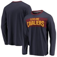 Cleveland Cavaliers Fanatics Branded Iconic Color Block Long Sleeve T-Shirt - Navy/Wine
