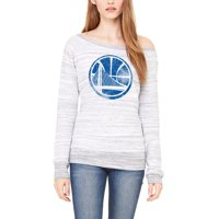 Golden State Warriors Let Loose by RNL Women's Game Day Wide Neck Sweatshirt - Ash
