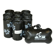 Pet Waste Bags, Dog Waste Bags, Bulk Poop Bags on a roll, Clean up poop bag refills  + FREE Bone Dispenser (220 Bags)