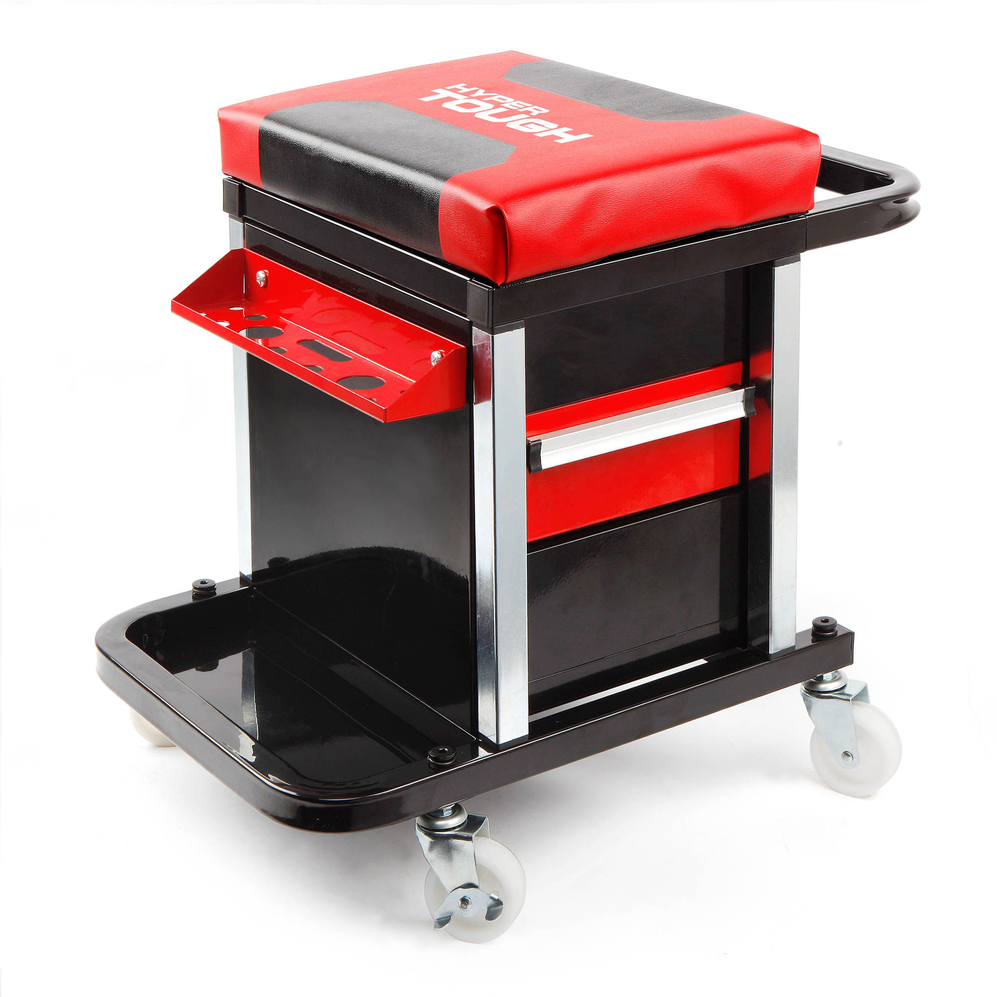 Mechanic Rolling Creeper 2 Drawer Seat Tool Box Chair