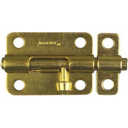 Door Barrel Bolt, Dull Brass, 3
