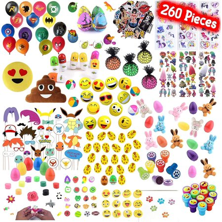 Playoly 260 Pieces Party Favor Kids Little Toys Assortment for Birthday, School, Carnival Prizes, Easter Party Packs, Goodie Bag, Stocking Stuffers and - Carnival Prizes For Kids