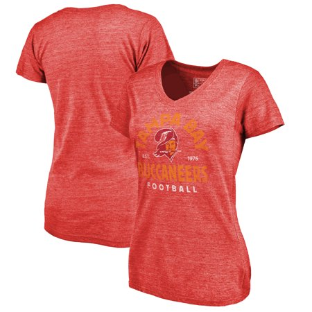 Tampa Bay Buccaneers NFL Pro Line by Fanatics Branded Women's Timeless Collection Vintage Arch Tri-Blend V-Neck T-Shirt - Red](Tampa Bay Nfl)