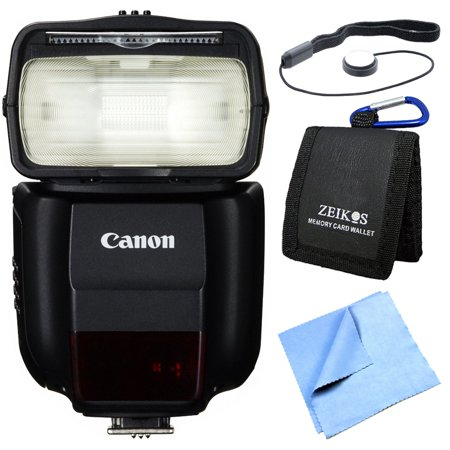 Canon 430EX III-RT EOS Speedlite Flash Exclusive Pro Kit Bundle includes Speedlite 430EX III-RT Flash, Memory Card Wallet, Lens Cap Keeper and Beach Camera Micro Fiber