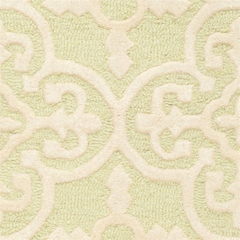 Safavieh Cambridge 6' Round Hand Tufted Wool Rug - image 2 de 10