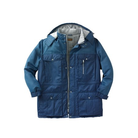 Men's Big & Tall Colorblock Expedition Hooded Parka By Boulder Creek
