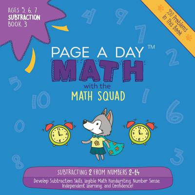 Page a Day Math : Subtraction Book 3: Subtracting 3 from the Numbers 3-15 - Angry Birds Halloween 3-15 Three Stars