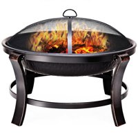 """Costway 30"""" Outdoor Fire Pit BBQ Portable Camping Firepit Heater Patio Garden"""