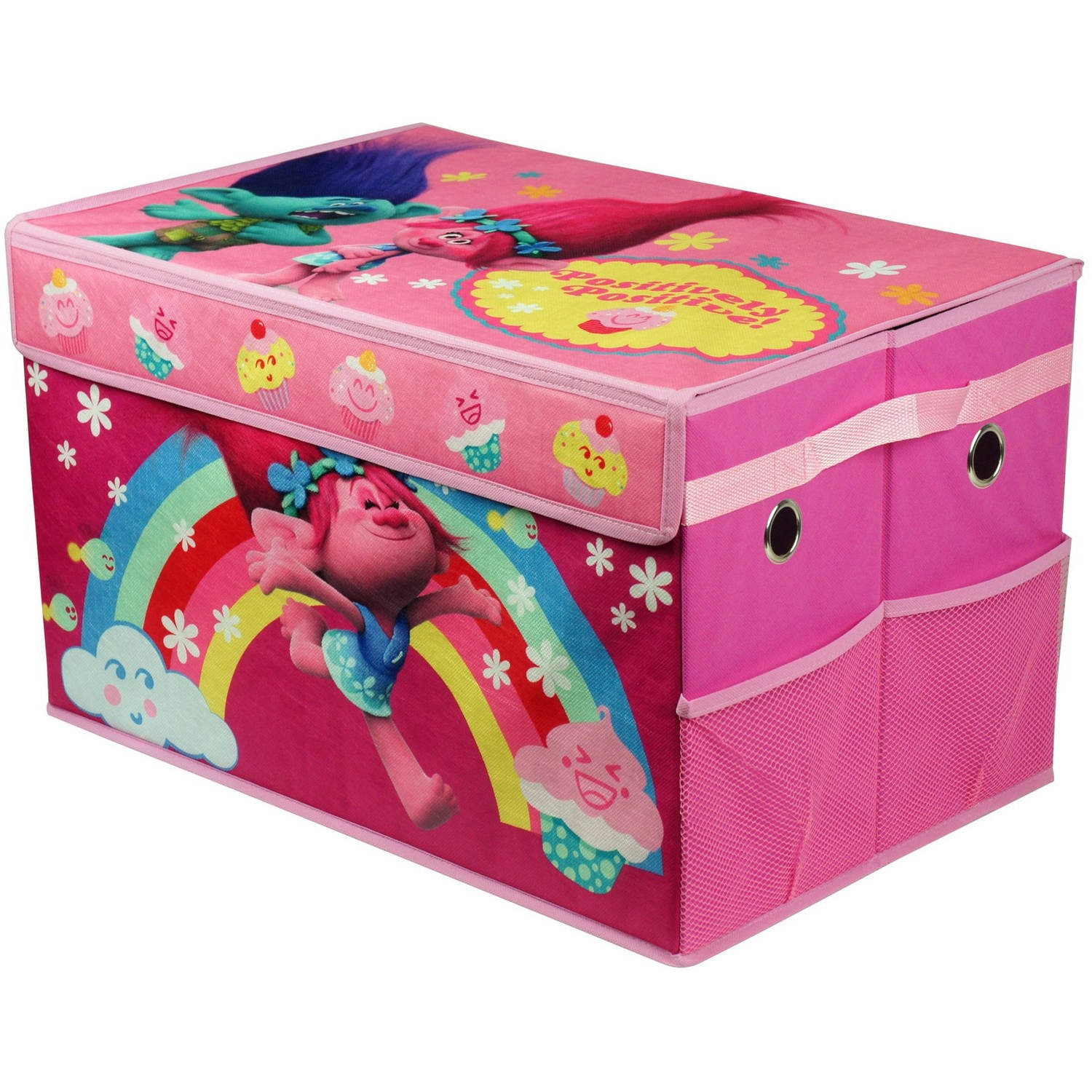 Bon Trolls Collapsible Toy Storage Trunk