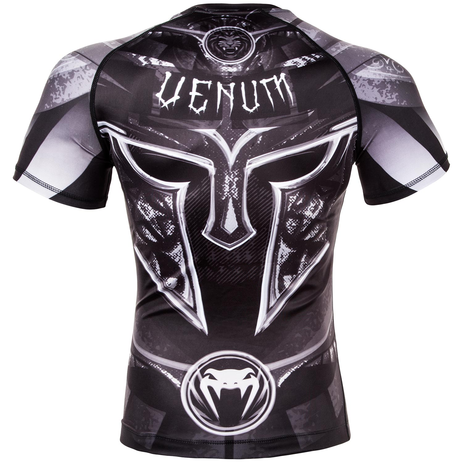 Venum Gladiator Short Sleeve Rashguard Black//White