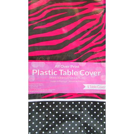 Pink Zebra Boutique Tablecover - - Zebra Table Cover
