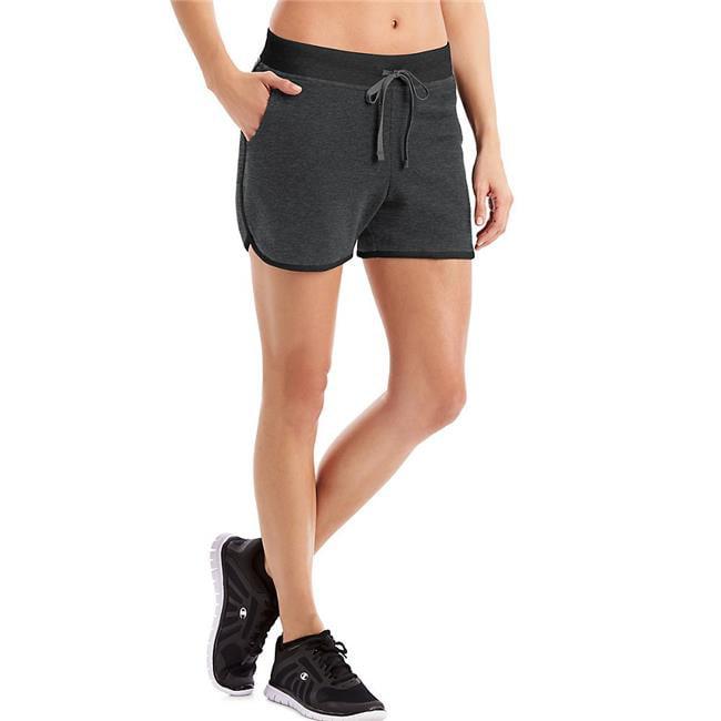 Hanes 90563051540 Medium Sport Womens French Terry Shorts, Granite Heather & Black - image 1 de 1