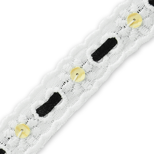 Expo Int'l 5 yards of Eyelet Lace With Ribbon Trim