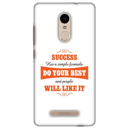 Xiaomi Redmi Note 3 Case, Premium Handcrafted Designer Hard Shell Snap On Case Printed Back Cover with Screen Cleaning Kit for Xiaomi Redmi Note 3, Slim, Protective - Success Do Your