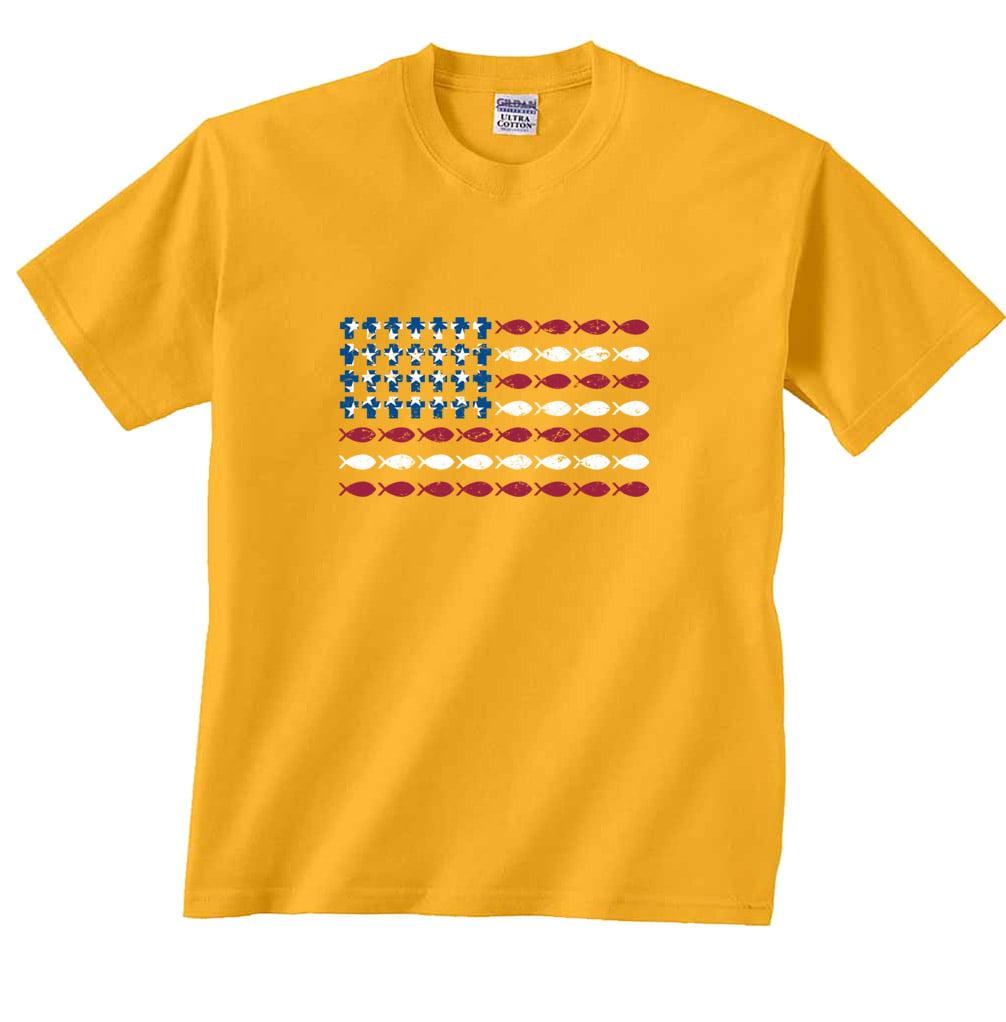 Download Fair Game - Fish USA American Flag Fishing T-Shirt ...