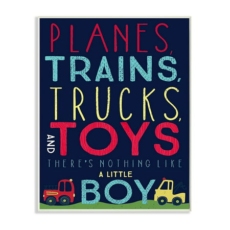 Stupell Home Décor Planes Trains Trucks And Toys Wall Plaque Art 10 X