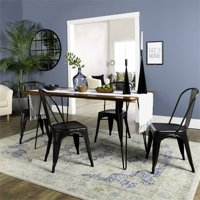 Walker Edison Hairpin 5 Piece Dining Set with Cafe Chairs