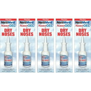 5 Pack - NeilMed NasoGEL For Dry Noses, Drip Free Gel Spray 1 fl oz Bottle Each