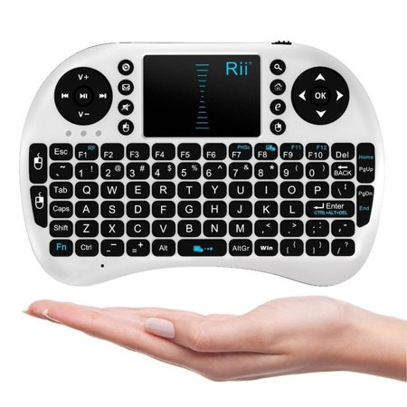 Rii Mini i8 2.4G Wireless Keyboard with Touchpad for PC Pad Google Android TV Box (Best Touchpad For Windows 10)
