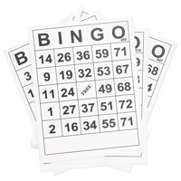 60-Pack Bulk Large Print Paper Bingo Calling Cards, 8 X 11 Inches