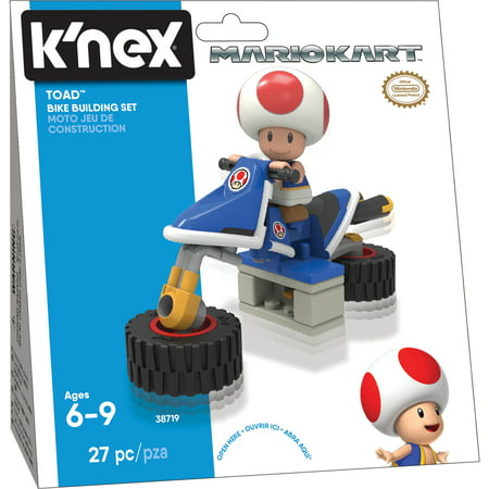 K'NEX Mario Kart Toad Bike Building Set - Toad Mario Hat