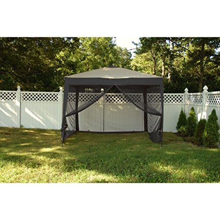 Patio Bliss STOW-EZ 10' X 10' Pop-Up Canopy with Mesquito Net and