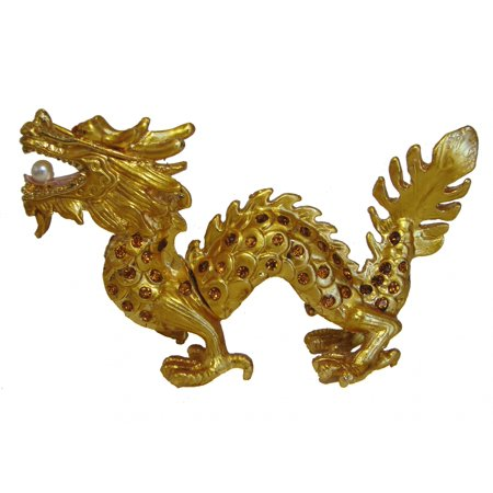 Cloisonne Dragon (Golden Bejeweled Cloisonne Dragon Statue )