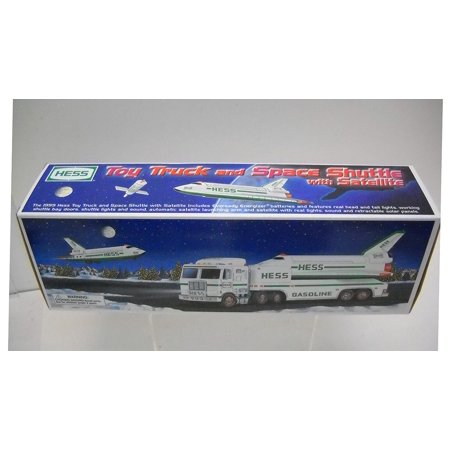1999 Toy Truck and Space Shuttle with Satellite, 18 Wheeler w/ Space Shuttle and Satellite By Hess