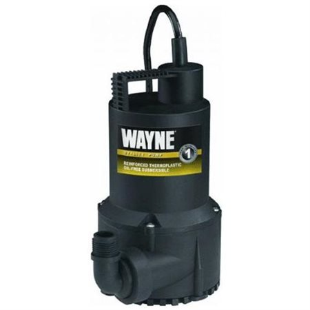 1/6 HP Oil-Free Submersible Thermoplastic Utility Pump