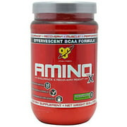 BSN Amino X Amino Acids + BCAA Powder, Green Apple, 30 Servings