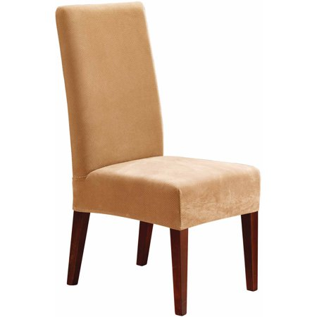 Sure Fit Stretch Pique Short Dining Room Chair Slipcover Duck Short Dining Chair Slipcovers