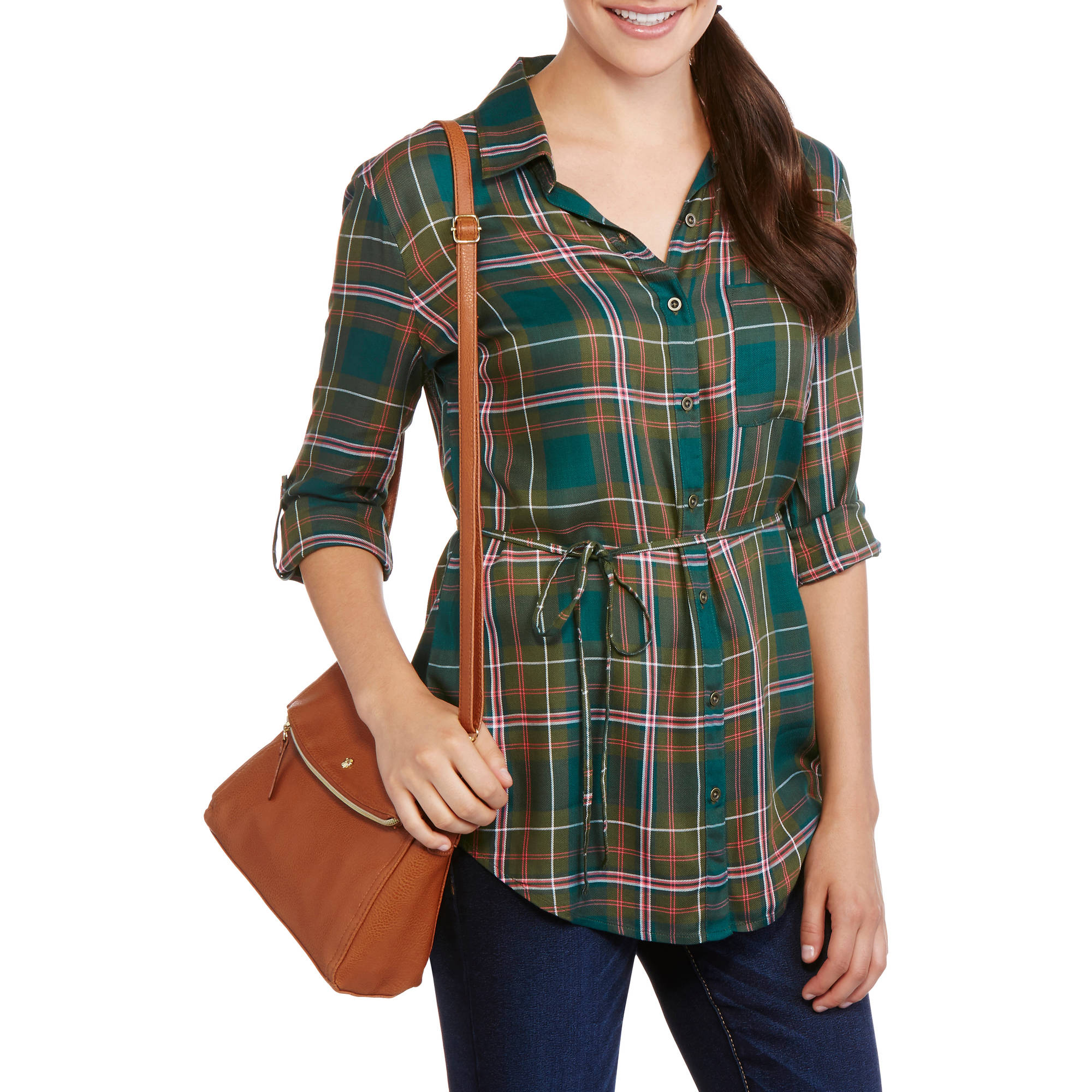Faded Glory Women's Lightweight Tunic Shirt