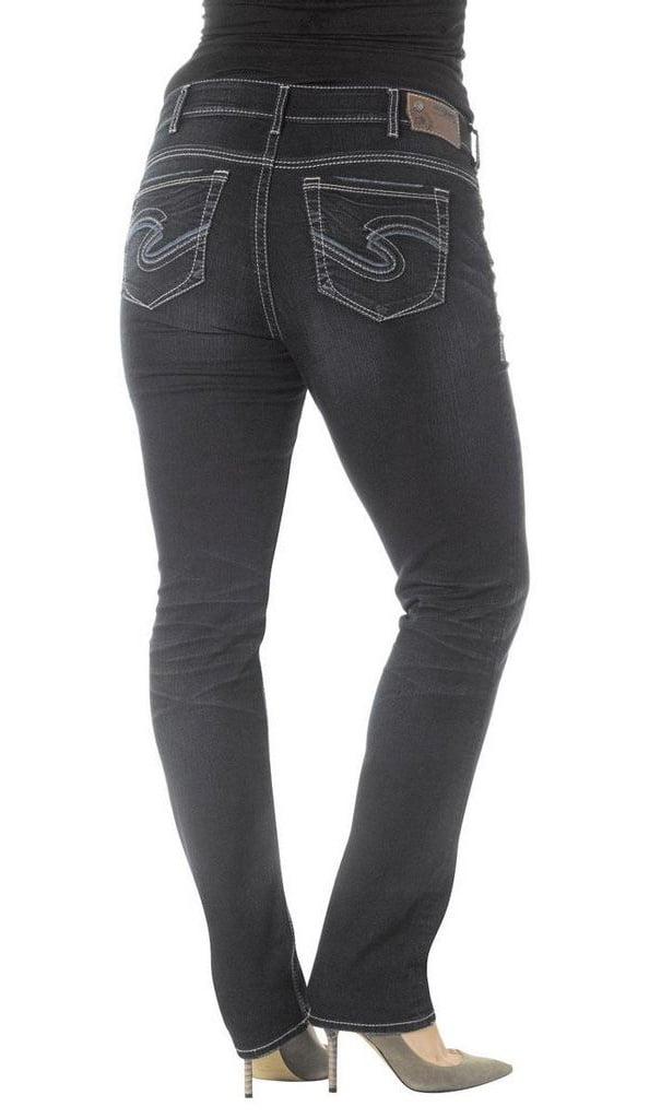 Silver Jeans Women Denim Suki Distressed Plus Dark Wash W93310SSF426 SZ 24 X 29