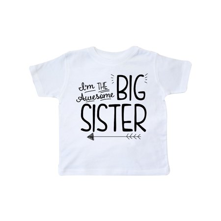 e2fbc6f7fd INKtastic - i m the awesome big sister Toddler T-Shirt - Walmart.com